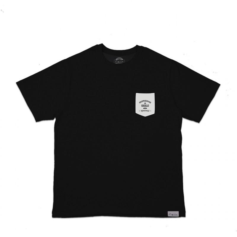 Camiseta Sigilo Pocket Preta