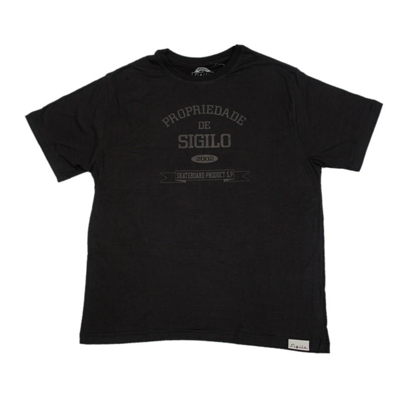 Camiseta Propriedade de Sigilo Preta