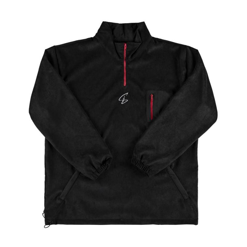 Blusa Cotelê Sigilo Preta e Vermelha